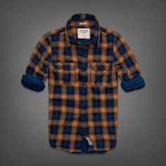 abercrombie and fitch mens buell mountain shirt