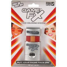 Game FX Face Paint System - Red/Gold - $4.99