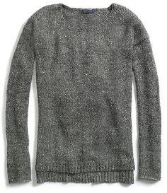 Sequin Crew Neck Sweater - Lyst