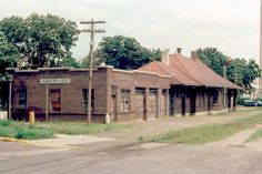 Chicago, Milwaukee, St. Paul and Pacific (Milwaukee Road) depot at Albert Lea, Minnesota built in 1914. This photo was taken in 1979.  The building is currently being used as a liquor store. This depot was listed on the National Register of Historic Places in 1982, NRHP Reference # 82002954.