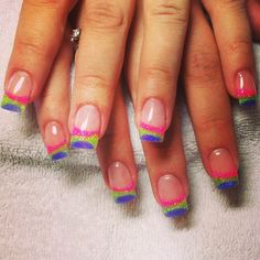 Gel nail designs 2012 gear nails pinterest colorful french nail design prinsesfo Image collections