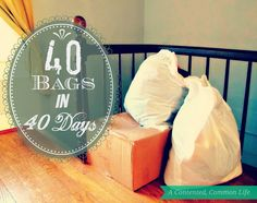 A Contented, Common Life: 40 Bags in 40 Days Year Three: Lightening my Load