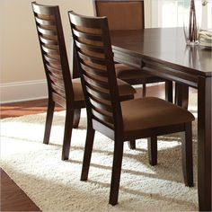 Lowest price online on all Steve Silver Company Cornell Upholstered Dining Chair in Espresso - High Back Dining Chairs, Dining Table Chairs, Upholstered Dining Chairs, Side Chairs, Dining Set, Wooden Dining Table Modern, Dinning Table Design, Farmhouse Dining Room Table, Bedroom Bed Design