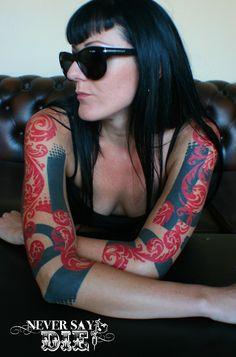 Sleeves by Kali at Never Say Die Tattoo, London UK.