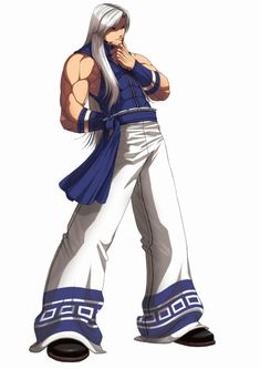 View an image titled 'Jhun Hoon Art' in our King of Fighters 2003 art gallery featuring official character designs, concept art, and promo pictures. Art Of Fighting, Fighting Games, Game Character Design, Character Art, Doom Demons, Samurai, Snk King Of Fighters, All Star, Manga Anime