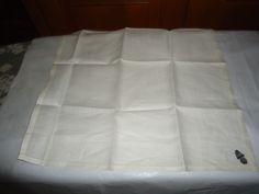 "Vintage NOS Men's Irish Linen Handkerchief.   Full Size. 16"" X 16"". Hemstitched…"