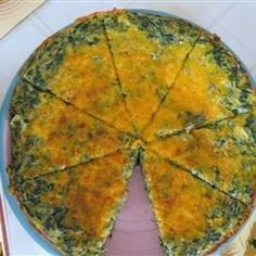 Spinach and Potato Frittata Allrecipes.com This was good. Used thin sliced zucchini instead of spinach, garlic salt instead of clove of garlic.