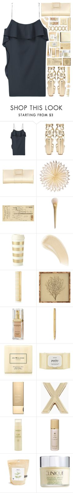 """""""2179 // Z i r c o n"""" by ritaof ❤ liked on Polyvore featuring MANGO, Gianvito Rossi, Roger Vivier, Cultural Intrigue, Art Classics, Kate Spade, Ilia, AERIN, Mirror Image Home and Elizabeth Arden"""