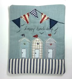 iPad Cover Beach Huts and Bunting