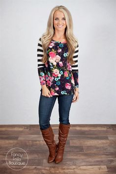 Floral and Stripe Tunic! | Jane