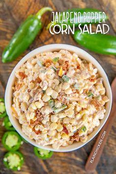 Corn Salad Recipes, Corn Salads, Appetizer Recipes, Appetizers, Bacon Recipes, Milk Recipes, Recipes With Jalapenos, Savory Salads, Vegan Recipes