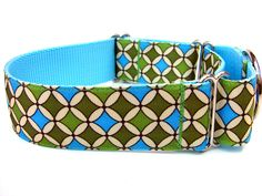 """Green and Blue Martingale Collar 1.5"""" Martingale Dog Collar by Wagologie on Etsy https://www.etsy.com/listing/104581195/green-and-blue-martingale-collar-15"""