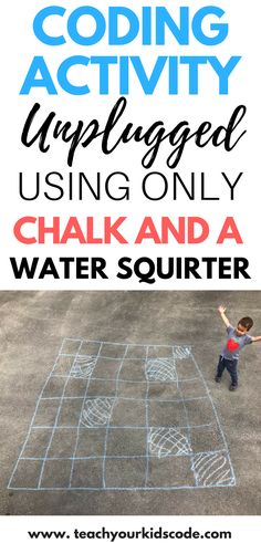 Super Silly Screen Free Coding Activity with Chalk - Teach Your Kids Code