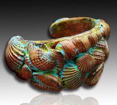 Adi's seashells cuff bracelet by adrianaallenllc on Etsy, $25.00