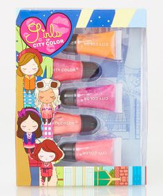 Another great find on #zulily! Neon City Color Lip Gloss Tube Set by City Color Cosmetics #zulilyfinds