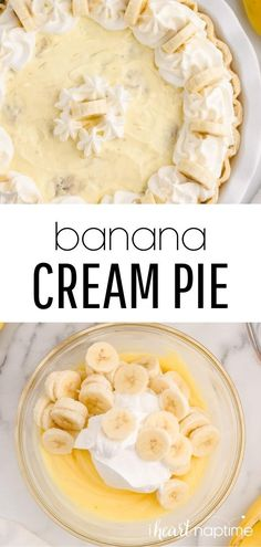 This recipe has all the delicious flavors of good old-fashioned banana cream pie but is literally done in minutes. Takes only 5 ingredients and is an easy no bake dessert that tastes amazing! Easy No Bake Desserts, Best Dessert Recipes, Candy Recipes, Pie Recipes, Fun Desserts, Sweet Recipes, Amazing Recipes, Easy Banana Cream Pie, Homemade Cheesecake