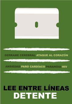 "Poster by Carlos Aponte, ""Detente"", Banco Popular Puerto Rico, Social Awareness Campaign, San Juan."