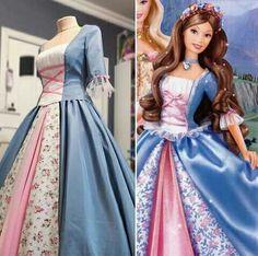 Barbie Princess and the Pauper Erica dress Barbie Costume, Barbie Dress, Costume Dress, Princess Movies, Princess Costumes, Cosplay Outfits, Cosplay Costumes, Teen Costumes, Woman Costumes