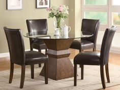 Here's our Leather Dining Room Chairs collection at http://jamarmy.com/leather-dining-room-chairs.html