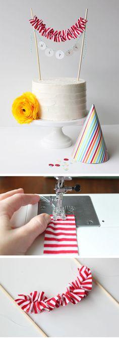 Cute cake bunting.