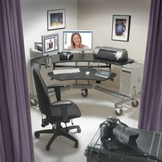 Modular Multimedia Desk And Workstation Console Unit