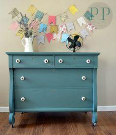 Blue-green Empire Dresser