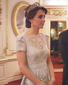 fanofcatherine:  johnabradley:  WE FINALLY GOT TO SEE A FULL SHOT OF THIS DRESS AND THE CAMBRIDGE LOVER'S KNOT TIARA WHAT A DAY TO BE ALIVE  Way too gorgeous!!!