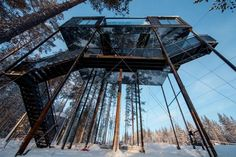 Snohetta builds charred-timber treehouse as the newest addition to Treehotel