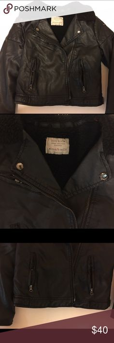 Zara Girls Size 4/5 Black Moto Coat Zara Girls Size 4/5 Black Moto Coat in Great pre owned condition. No rips, no stains. Zara Jackets & Coats