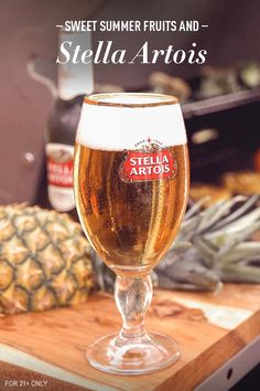Nothing says summer like the taste of freshly cut fruit. The flavours in Stella Artois are designed to enhance many of the ingredients in sweeter dishes - such as Pineapple. Try a Stella Artois next time you slice open a pineapple, or even heat it up on the grill.