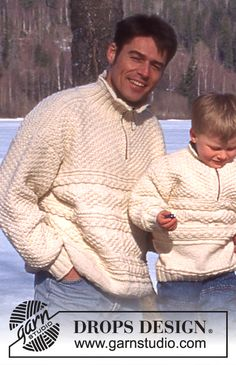 DROPS 52-24 - DROPS Sweater in Alaska with texture and zipper in women's and men's sizes - Free pattern by DROPS Design