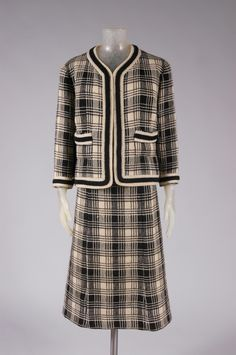 Woman's suit: jacket, skirt and belt   Designed by Gabrielle (Coco) Chanel (French, 1883-1971). Label Chanel, Paris   France, 1964-1966   Material: wool   Philadelphia Museum of Art
