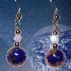 Handcrafted Lapis Lazuli Globe and Swarovski Crystal Gold Plated Earrings These gorgeous earrings are ideal for the traveller, cartographer or geography teacher in your life. #swarovski #handmade #gemstone #earrings #UK #lapislazuli #teachergift #geographer #geographyteacher #travel #tourism #summer #graduationgift #geography #student #globe #unusualearrings #ukbusiness #womeninbiz #handcrafted