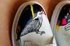Hand Painted Dr Martens 1461 Shoes UK6/US8. van Flatcircle op Etsy