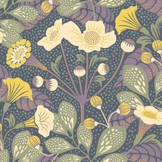 Tropisk Multicolor Floral Brewster Wallpaper Wallpaper Brewster Multi Colored Eco-friendly Wallpaper Floral & Plants Wallpaper Tropical Wallpaper , Non Woven Blend, Easy to clean , Easy to wash, Easy to strip