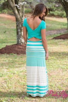 On Cloud Nine Maxi Dress Mint