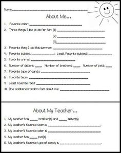 """Free Back to School icebreaker idea for middle school - """"who am I?"""""""