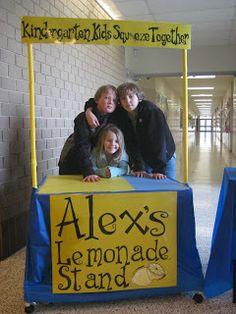 An Alex's Lemonade Stand at a school's craft fair.
