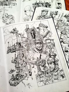 Planning to sell original sketchbook pages at Thought Bubble, special TB discount £50. Would anyone be interested?