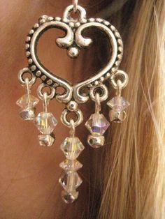 Silver Heart Chandelier Earrings with Swarovski Crystal https://www.etsy.com/listing/90054761/silver-heart-chandelier-earrings-with?ref=shop_home_active