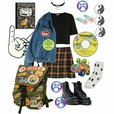 ideas for the best punk outfits - vintage outfits Fashion 90s, College Fashion, Grunge Fashion, Fashion Outfits, Indie Rock Fashion, Club Fashion, Lolita Fashion, Fashion Boots, Trendy Fashion