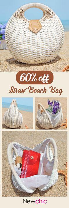 【60%OFF】Women Summer Beach Travel Must-Have Straw Beach Bag Outfit Ideas #Sunshine #beach #swim #summer #straw