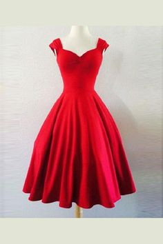 Cherry Red Rockabilly Dress Pin Up VALENTINES by MoonbootStudios I love it my dream dress so beautiful A Line Prom Dresses, Prom Party Dresses, Homecoming Dresses, Short Dresses, Formal Dresses, Prom Gowns, Dress Prom, Evening Gowns, Wedding Dresses