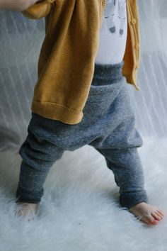 Grey Baby Harem Pants . AnchoreDeep . Etsy .