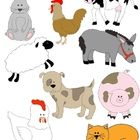 "Looking for farm animals? Take a peek at Just Farm Animals Clip Art: 34 PNGs! Originally part of my 'It Begins with..."" Alphabet Clip Art series (s..."
