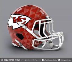 Designer gives all 32 NFL helmets a bold makeover