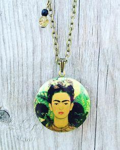 New on Etsy!!! http://ift.tt/1Uez9gU #locket #Frida #art #Mexico #love #jewelry #necklace #etsy #ldnont #mothersday #monkey #blackcat