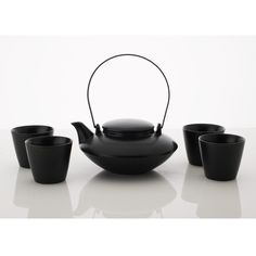 Japanese Tea Set Black yedi houseware