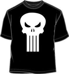 The Punisher Movie Skull Logo Black Mens T-Shirt Tee The Punisher Movie b4e5e007f81