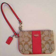 Coach Wristlet - NWOT New without tags Coach Wristlet with original box. Never used, perfect condition! Price is negotiable, make an offer! Coach Bags Clutches & Wristlets